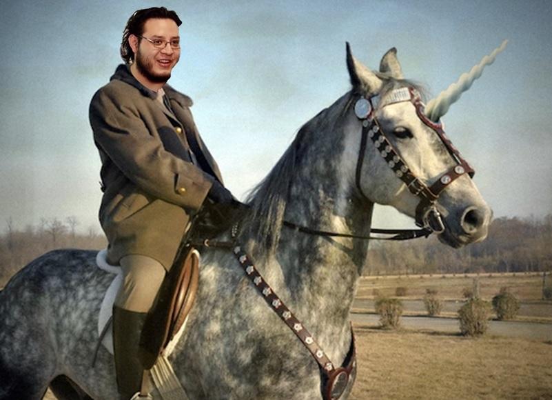 Puede convertir a caballos comunes en unicornios de combate LvL 100