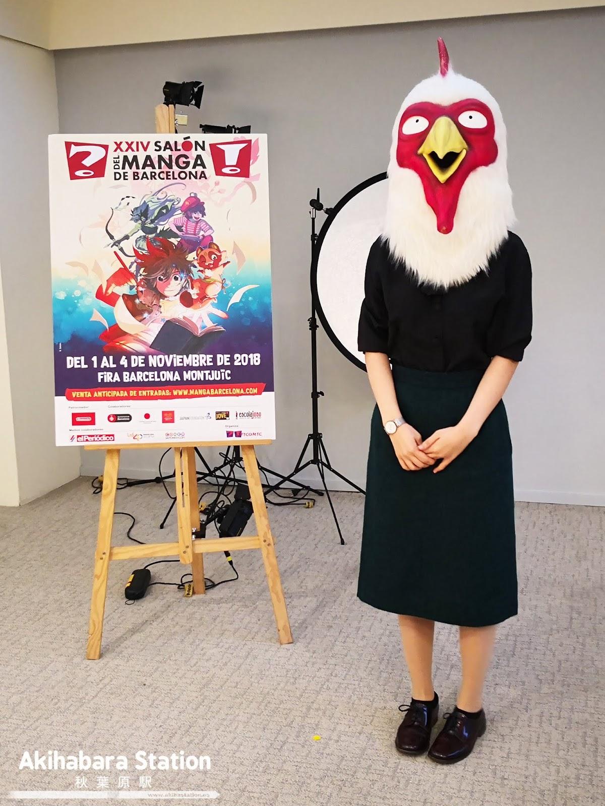 Por cierto, la mangaka de Beastars siempre aparece en público con un cabeza de pollo. ¡Paru Itagaki es la mejor!