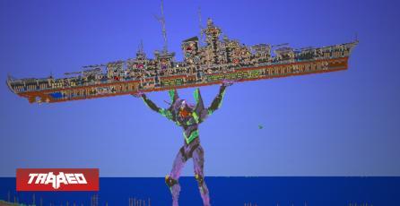 Este impresionante mapa de Terraria es un Evangelion sosteniendo un buque
