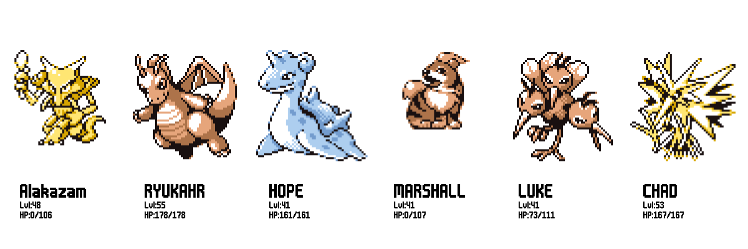 These are the Pokémon that entered the Hall of Fame