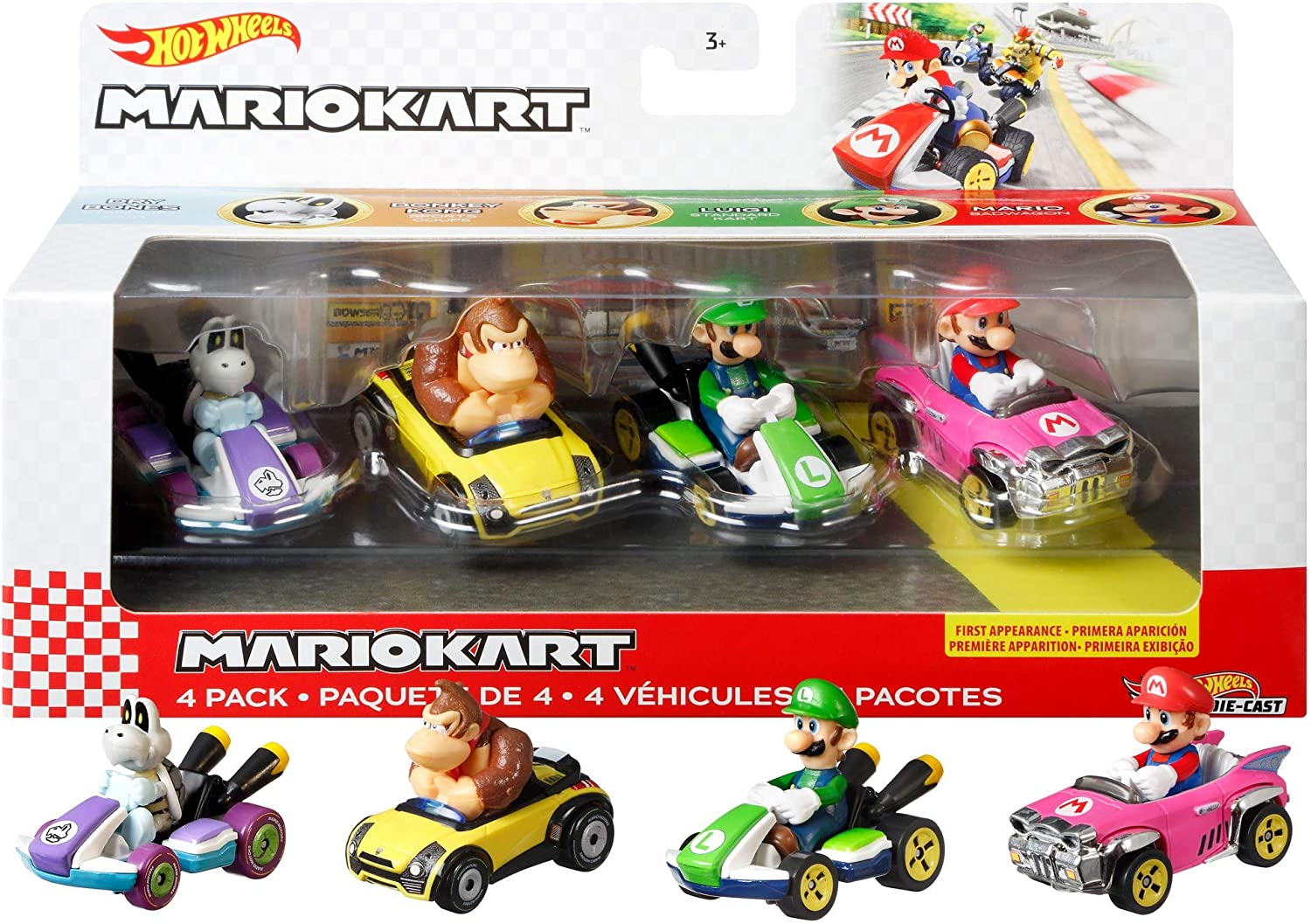 Hot Wheels Mario Kart 4-PK #1